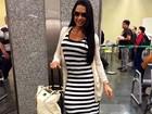 Gracyanne Barbosa reclama de greve no aeroporto: 'Caos total'