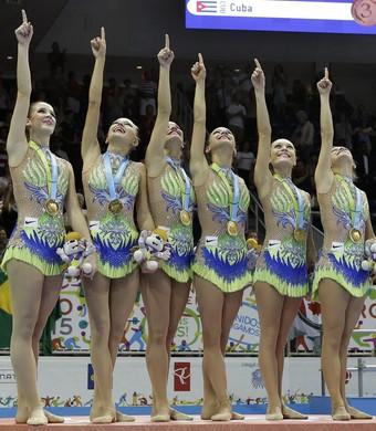 Brasil ouro ginástica ritmica Pan (Foto: AP)