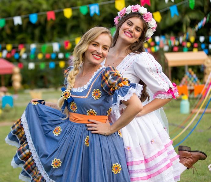 Angélica e Camila Queiroz posam para o Gshow (Foto: Fabiano Battaglin/Gshow)