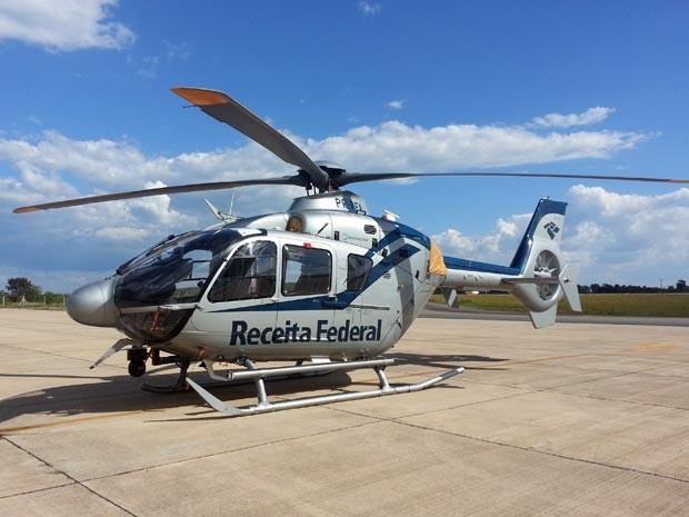 operação Grifo Receita federal Divinópolis MG fiscalização helicóptero (Foto: Marina Alves/G1)