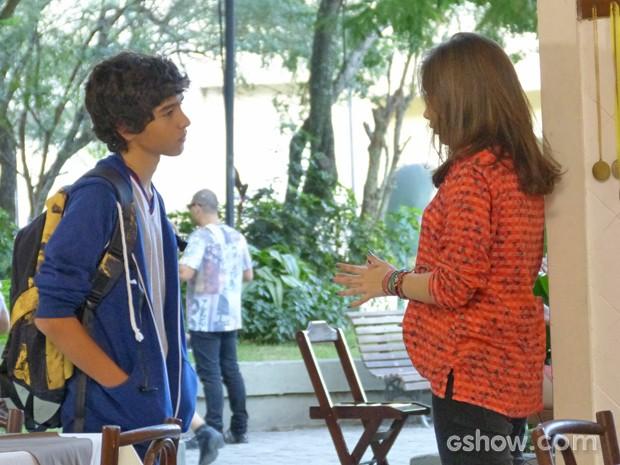 Agora quem cobra uma resposta é Guilherme  (Foto: Malhação / TV Globo)