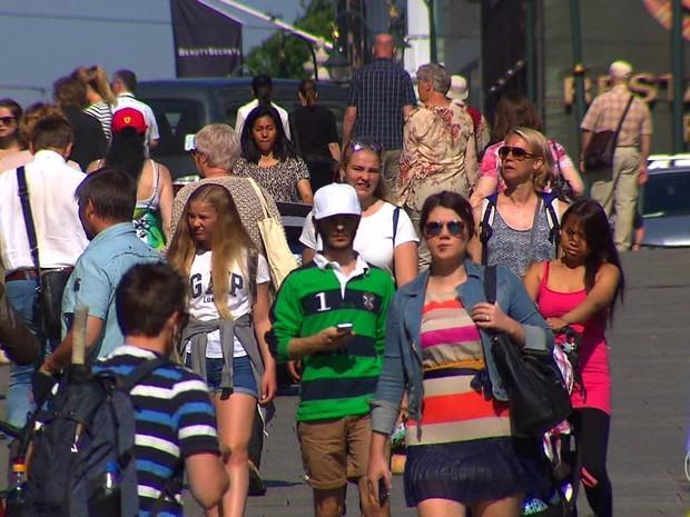 Noruega atrai milhares de imigrantes (Foto: TV Globo)