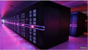 Computador chinês TP500, o mais rápido do mundo (Foto: BBC)