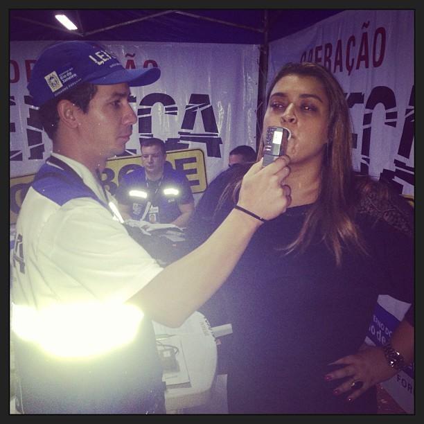 Preta Gil é parada em blitz da Lei Seca no Rio (Foto: Instagram/ Reprodução)
