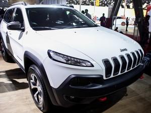 Jeep Renegade Cherokee no Salão do Automóvel de São Paulo (Foto: Caio Kenji/G1)