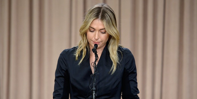 Maria Sharapova coletiva (Foto: Getty Images)