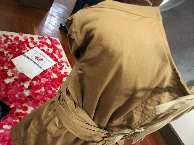 Camisa de força acervo Museu da Loucura Barbacena  (Foto: FHEMIG/ Divulgação)
