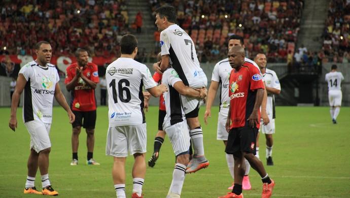Bebeto Amigos do Aldo x Amigos do Pizzonia Manaus (Foto: Marcos Dantas)