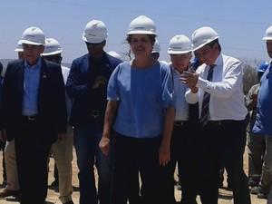 Dilma chega ao Piauí e visita obras da Transnordestina no estado (Foto: Catarina Costa/G1)