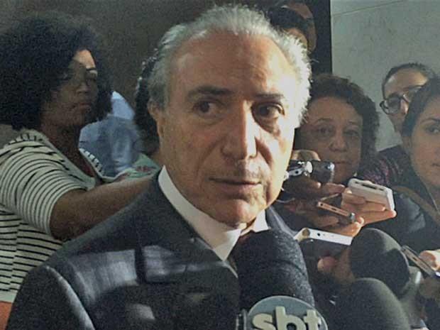 Michel Temer concede entrevista após reuniões no Palácio do Planalto (Foto: Filipe Matoso / G1)