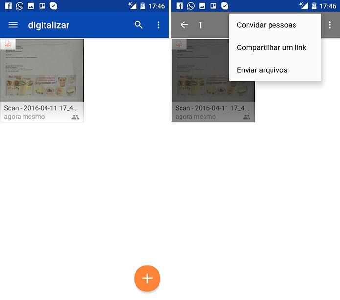 OneDrive subirá a documento para a nuvem e usuário poderá compartilhar com contatos (Foto: Reprodução/Elson de Souza)