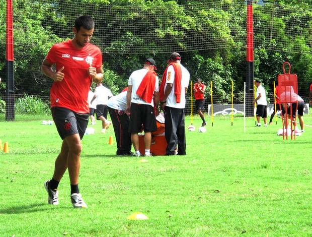 Camacho no treino do Flamengo (Foto: Janir Júnior / Globoesporte.com)