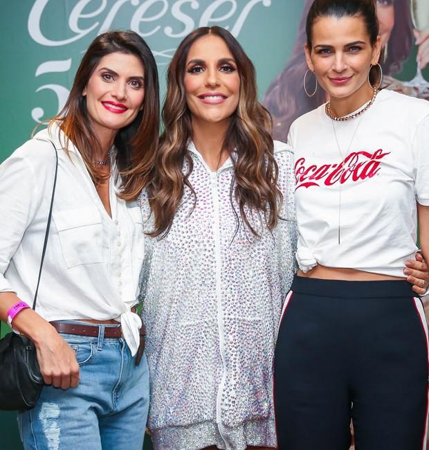 Isabella Fiorentino, Ivete Sangalo e Fernanda Motta (Foto: Manuela Scarpa/Brazil News)