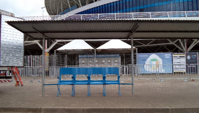Cadeiras do Olímpico na frente da Arena do Grêmio (Foto: Divulgação/PMPA )