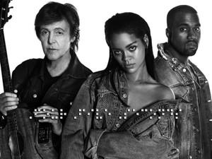 Rihanna, Paul McCartney e Kanye West vão cantar juntos no Grammy (Foto: Divulgação)