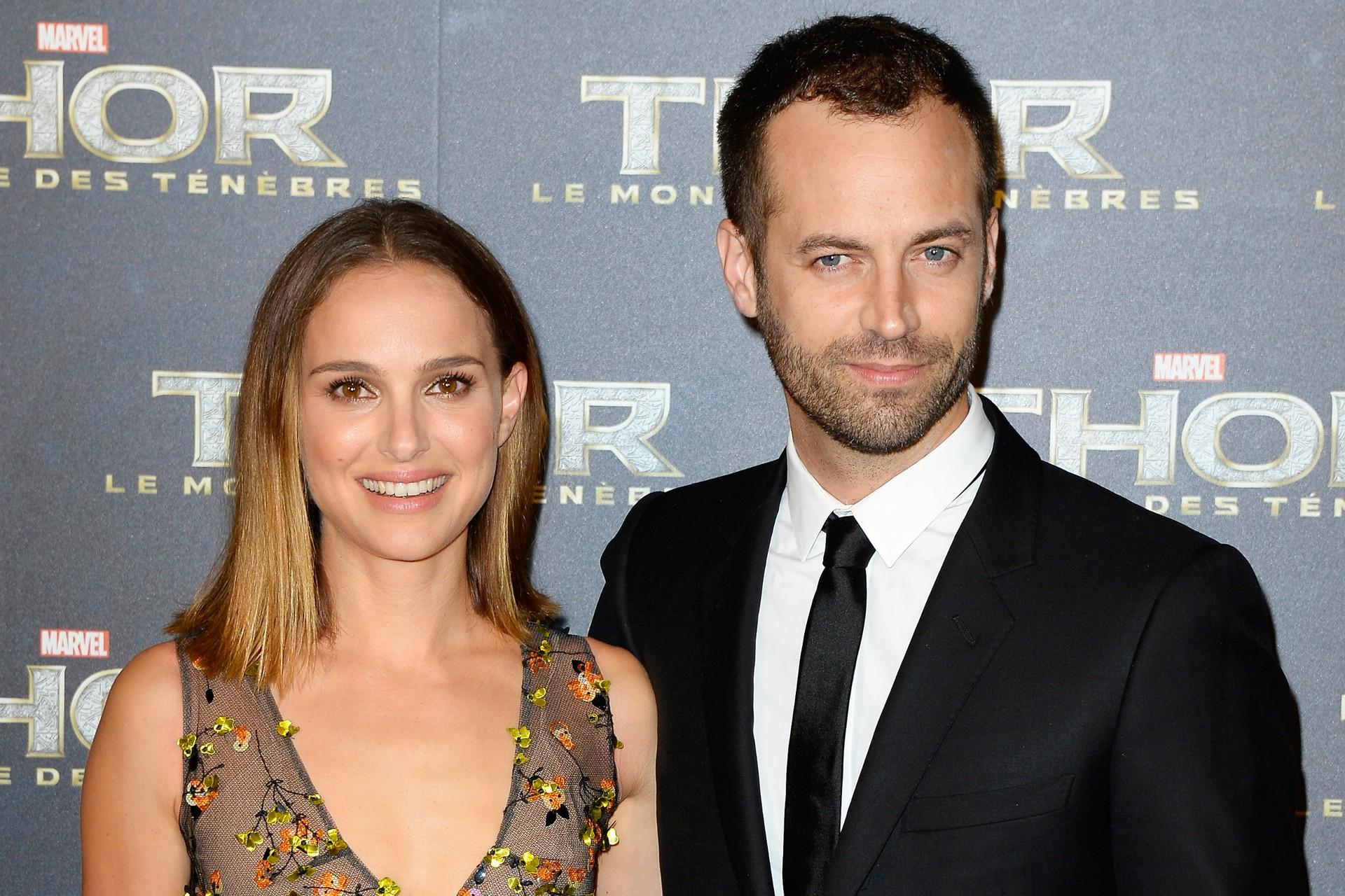 Natalie Portman e o marido, Benjamin Millepied, em outubro de 2013. (Foto: Getty Images)