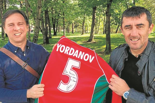 Marcelo Canellas e Yordanov (Foto:  Fellipe Awi)