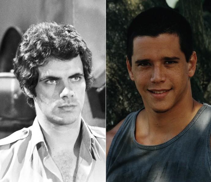 Mário Gomes e Márcio Garcia interpretaram Luiz, o irmão de Nice, que é bom caráter, mas acaba sendo usado pela babá para afastar qualquer outra mulher de Rodrigo. (Foto: Cedoc / TV Globo)