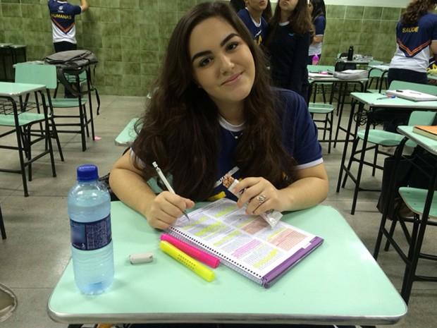 Estudante faz 'dieta do Enem' para melhorar disposição durante as aulas (Foto: Maria Luiza Figueiredo/ Acervo Pessoal )