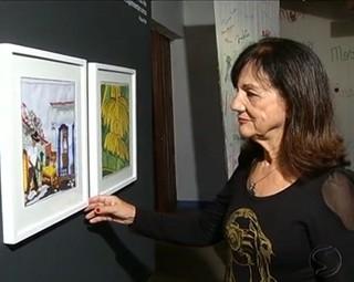 Exposição em Paraty mostra que bordados também são arte (Foto: Reprodução RJTV 2ª Edição)