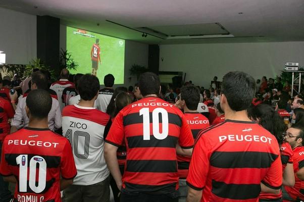Lounge da Peugeot no Flamengo (Foto: Divulgação)