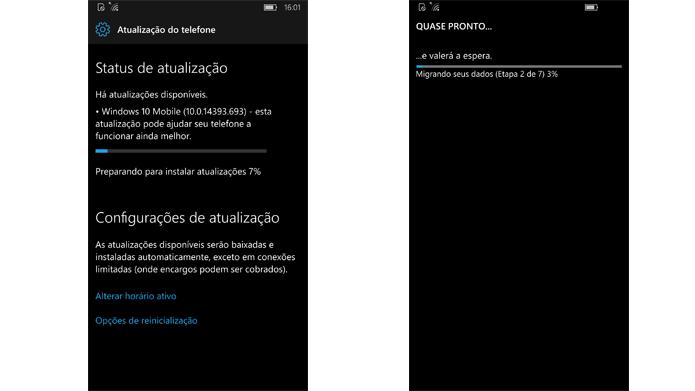 Atualização é aplicada automaticamente após download (Foto: Reprodução/Windows)