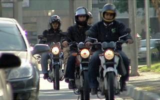 Novo curso para motoboys (Foto: Bom Dia Brasil)