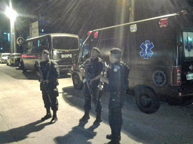 Policiais do Bope no Morro da Chatuba (Foto: Divulgação/Bope)