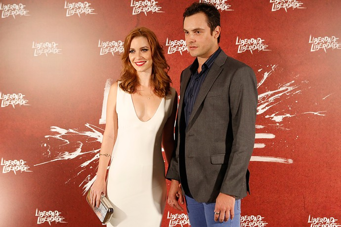 Sérgio Guizé acompanha a namorada Nathália Dill durante evento (Foto: Fabiano Battaglin/Gshow)