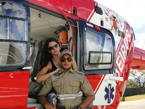 Katriana foi visitar o namorado, que fez um curso em Brasília (Foto: Paulo Gomes Junior/ Arquivo Pessoal)