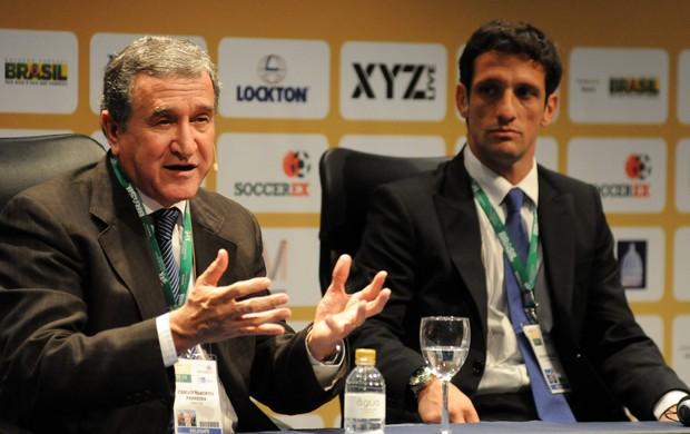 carlos alberto parreira e Belletti soccerex (Foto: André Durão / Globoesporte.com)