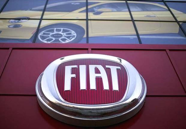 Logo da montadora Fiat , que pertence à FCA (Foto: Getty Images)