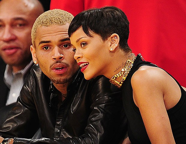 Rihanna e Chris Brown (Foto: AFP)
