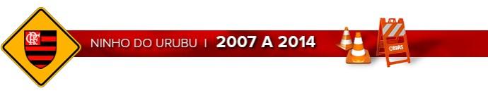Header NINHO DO URUBU - 2007 a 2014 (Foto: Infoesporte)