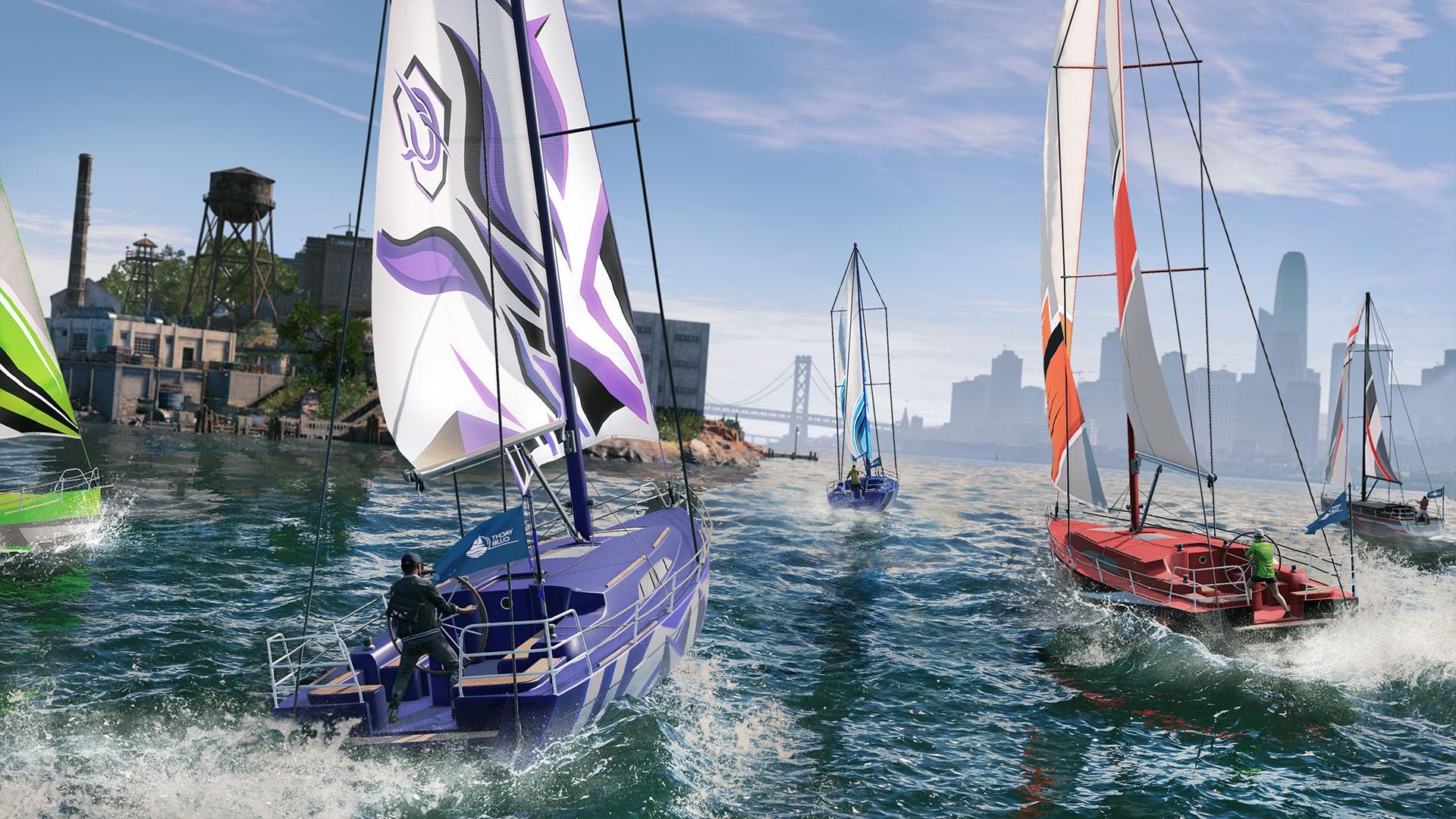 Caso prefira, o jogador pode dar um tempo na trama principal e disputar, por exemplo, uma corrida de barcos na baía  (Foto: Divulgação)