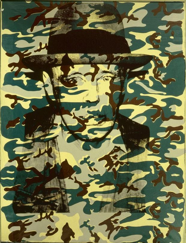 Portrait Joseph Beuys, 1986, de Andy Warhol, Galerie Klüser (Foto: Andy Warhol e Galerie Klüser)
