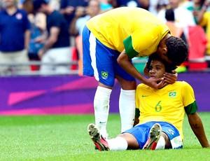 Thiago Silva Marcelo derrota Brasil final México (Foto: AFP)