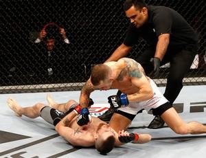 Niklas Backstrom e Mike Wilkinson, UFC Suécia (Foto: Getty Images)
