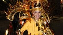 Rosana Valle mostra que tem samba no pé no carnaval da Grande Rio (Arquivo Pessoal)