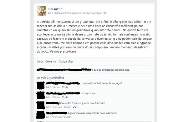 Artur Oliveira, técnico do Rio Branco, fala sobre fase ruim do time na Série C (Foto: Reprodução/Facebook)