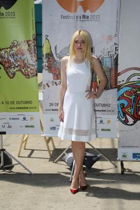 Dakota Fanning no Rio (Foto: Gabriel Reis/AgNews)