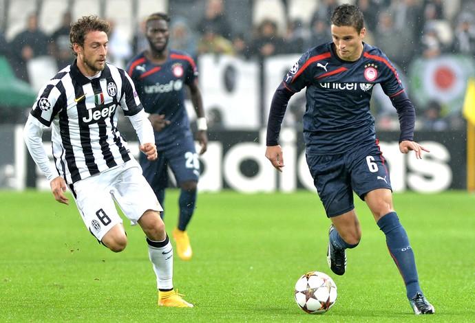 Marchisio e Afellay, Juventus X Ibrahim Afellay (Foto: Agência AP)