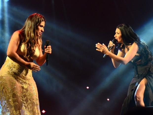 Simone e Simaria em show em São Paulo (Foto: Eduardo Martins/ Ag. News)