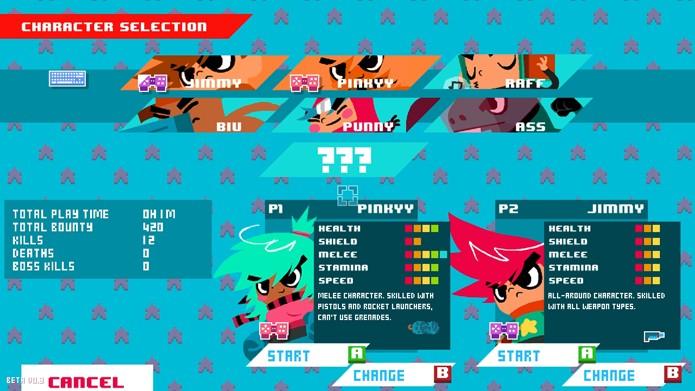 Tela de seleção de personagens do game (Foto: Divulgação/Zueira Digital)