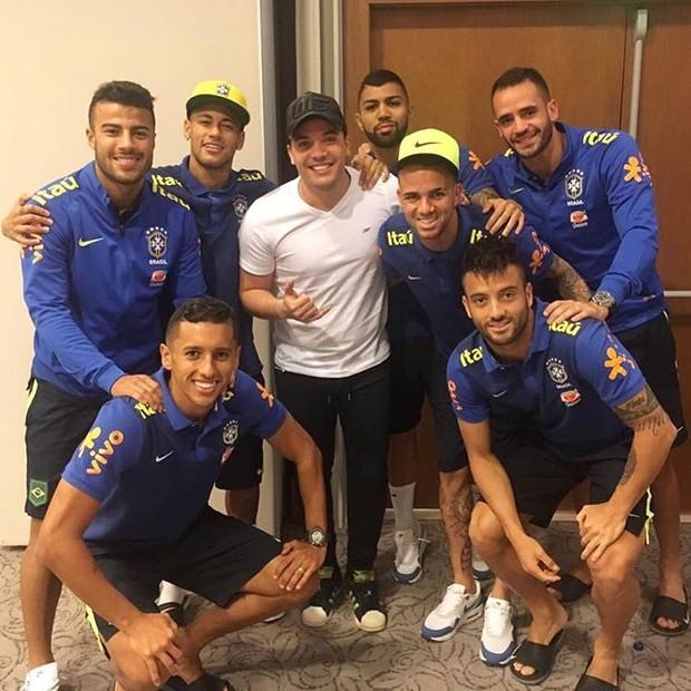 Wesley Safadão e seleção brasileira de futebol (Foto: Reprodução/Instagram)