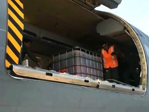 Força Aérea do Chile refoça trabalho de combate a queimadas no Maranhão (Foto: Reprodução / TV Mirante)