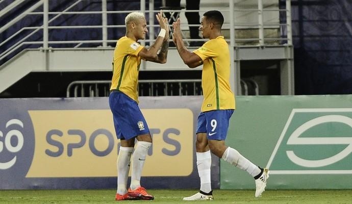 Neymar e Gabriel Jesus (Foto: Peu Ricardo/Agência Estado)