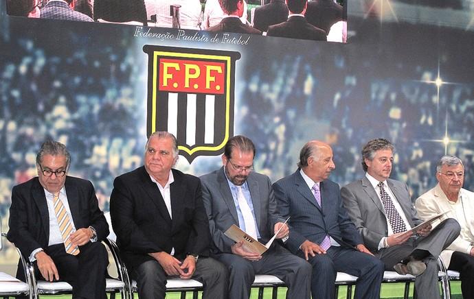 Carlos Miguel Aidar, Odilio Rodrigues, Reinaldo Carneiro Bastos, Marco Polo Del Nero, Paulo Nobre e Elie Werdo  (Foto: Rodrigo Faber)