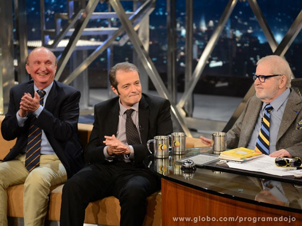 Alfredo Halpern e Adriano Segal participam do Programa do Jô  (Foto: TV Globo/Programa do Jô)