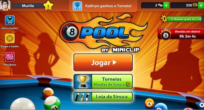 8 Ball Pool: veja como ganhar moedas no game (Foto: Reprodução/Murilo Molina)